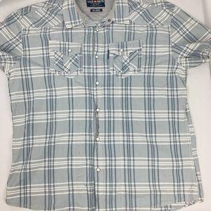 Echo Unltd Pearl Snap Shirt Mens 3XL Checkered